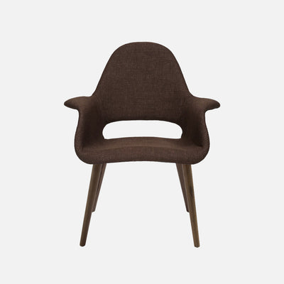 Organic chair Dark Brown - Front