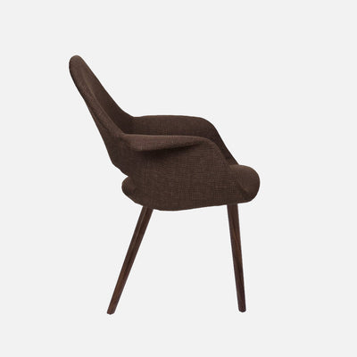 Organic chair Dark Brown - Side
