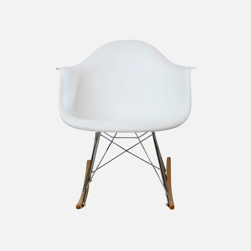 Pleasing Eames Replica Rocking Chair Rar White Gmtry Best Dining Table And Chair Ideas Images Gmtryco