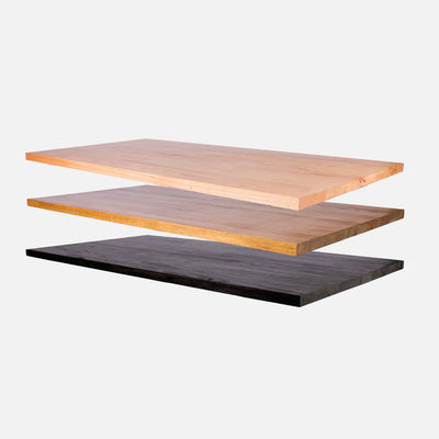 Timber top finish selection