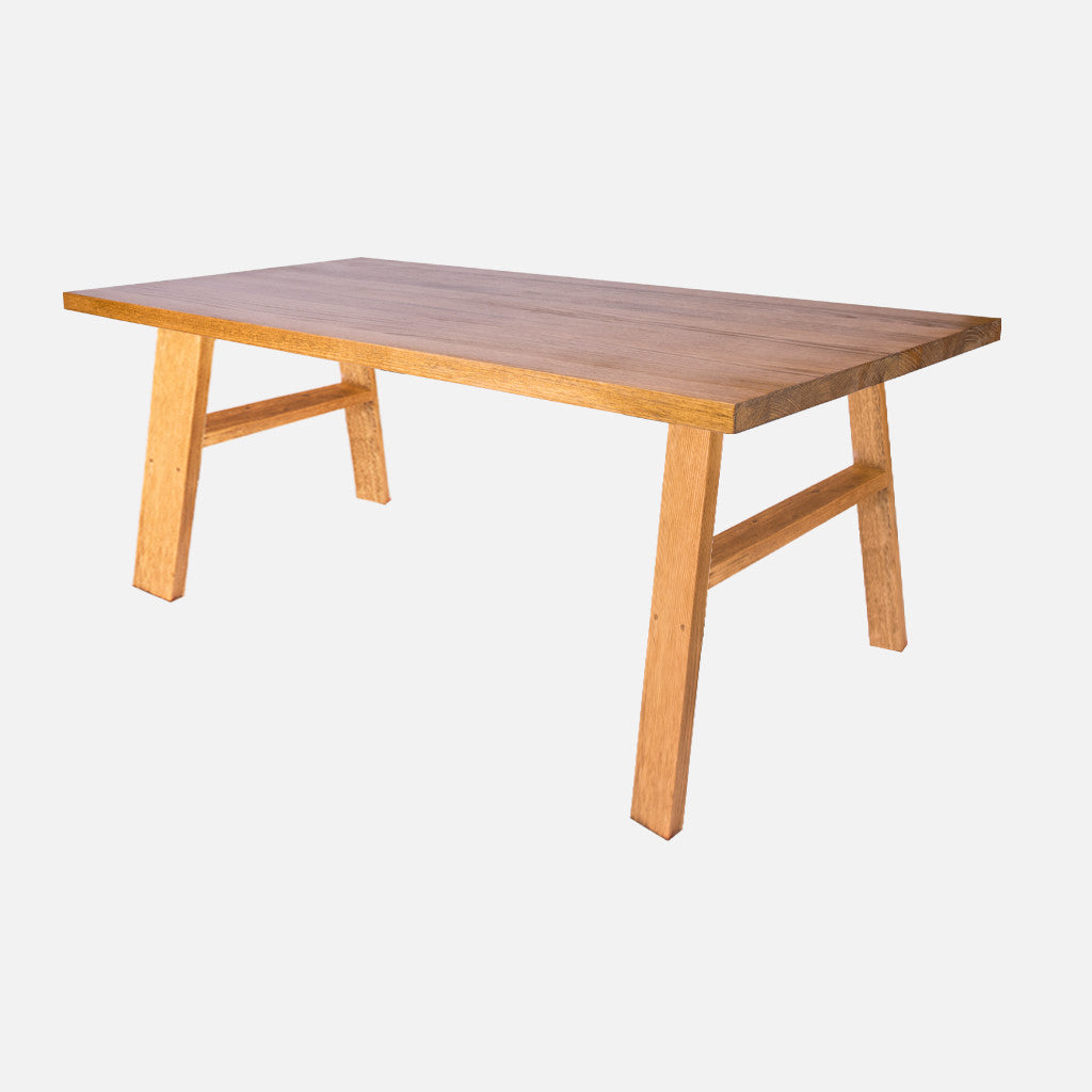 Steel Coffee Table Legs Brisbane: Aki Solid Timber Dining Table