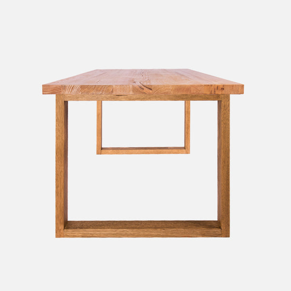 Uchi solid timber dining table - Side view