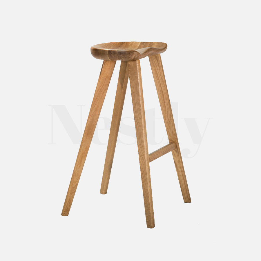 Tractor Bar Stool - Natural