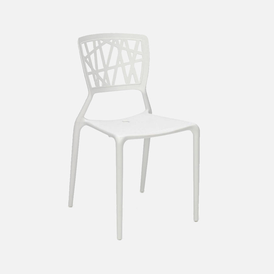 White Viento Chair - White Front View