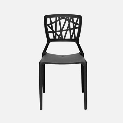 Viento Chair Black - Front View
