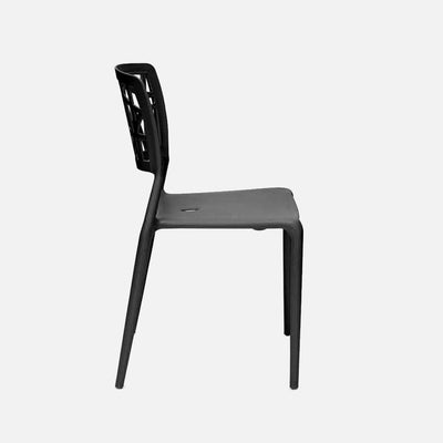 Viento Chair Black - Side View
