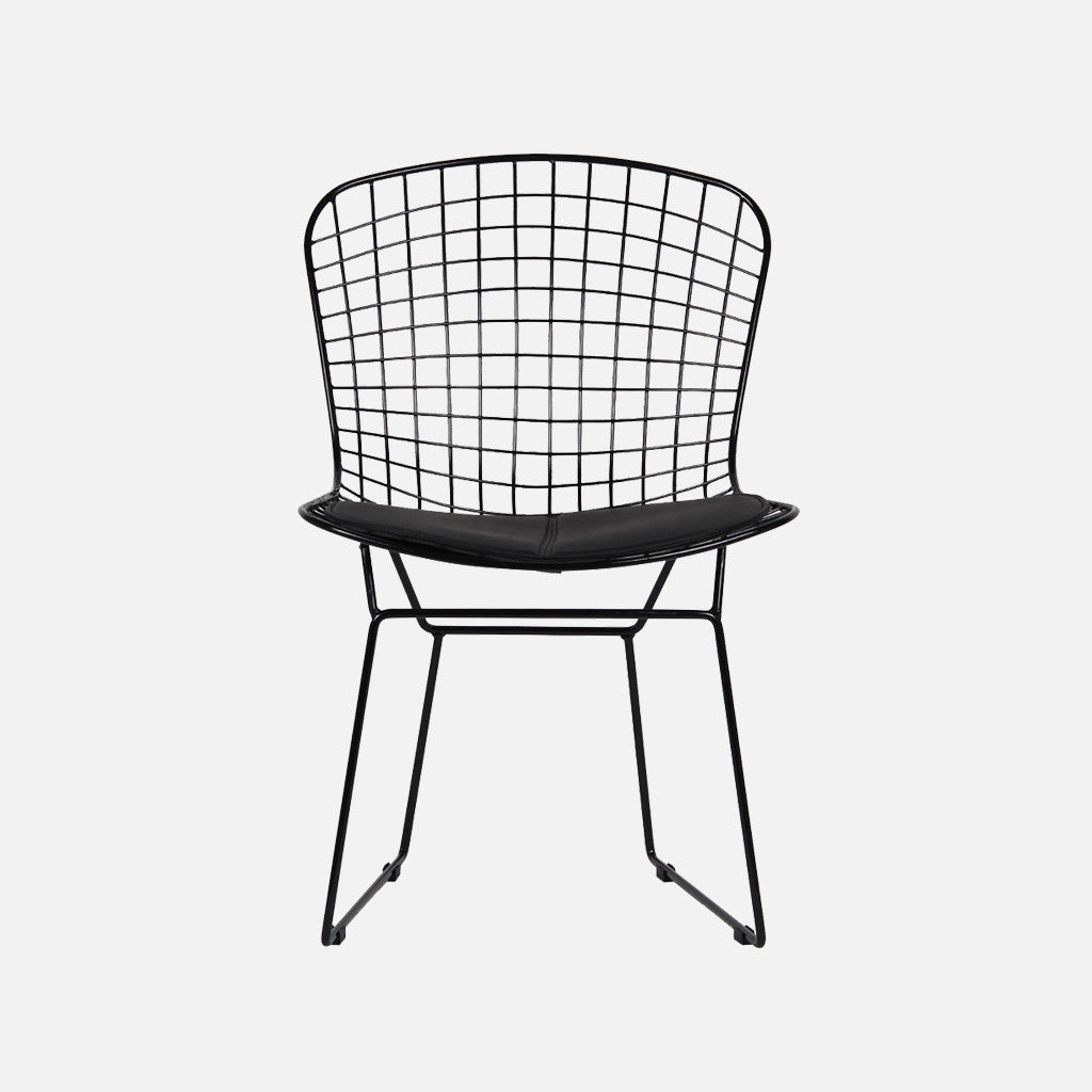 Bertoia Wire Chair | Harry Bertoia Replica Wire Chair Black Nestly