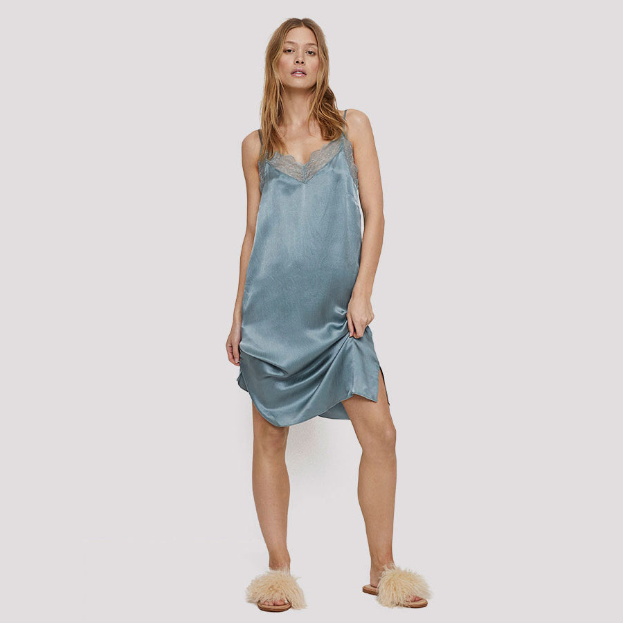 Camelia Long Silk Dress