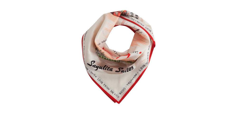 Printed Scarf | LOVE Stories