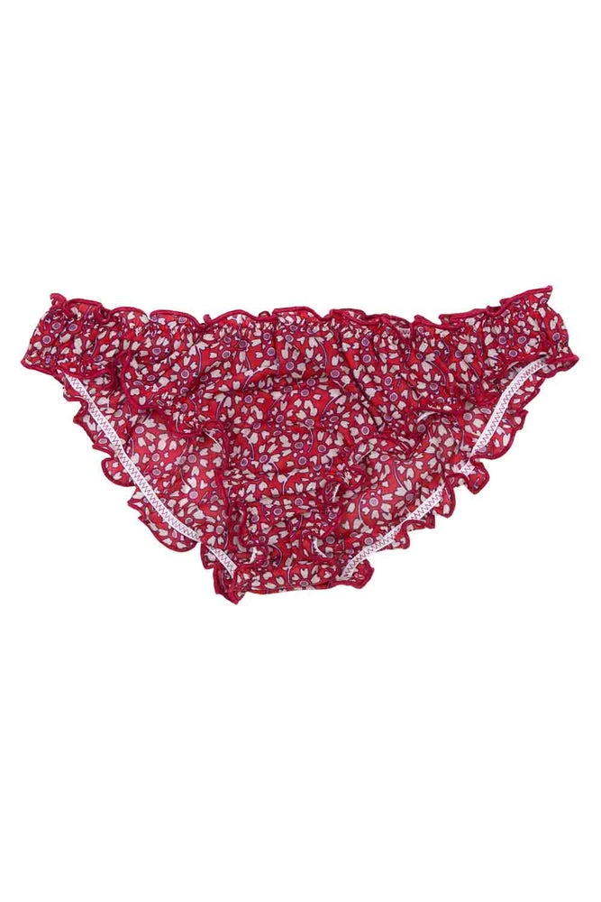 Lolita Red Print Briefs Flat Lay