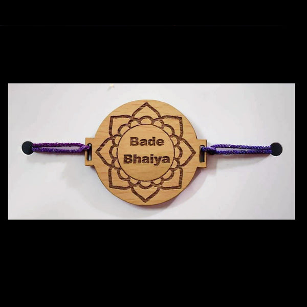 Wooden Engraved Rakhi