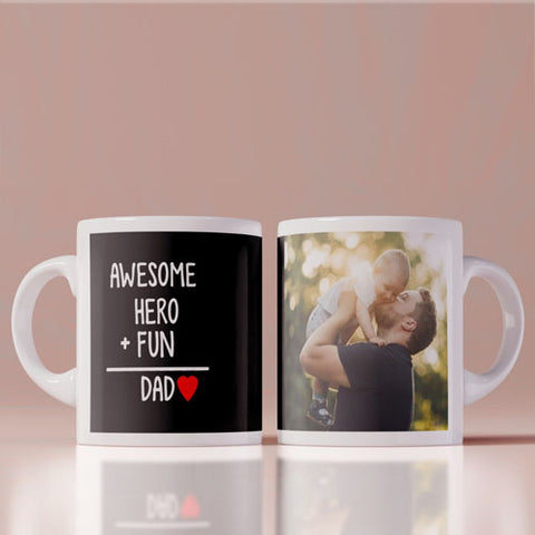Awesome Hero + Fun = Dad Coffee Mug