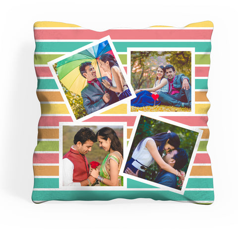 Personalized Photo Cushion With 4 Photos