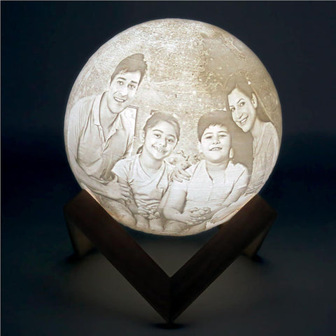 Personalised 3D Moon Lamp