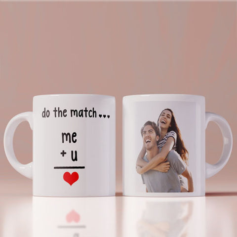 Me + You = Love  Photo Coffee Mug