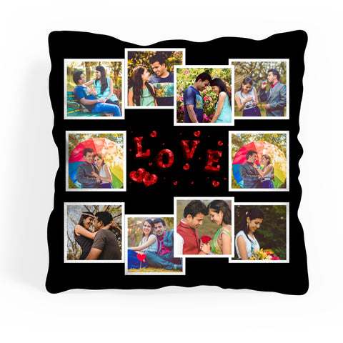 Personalized Photo Cushion With 10 Photos