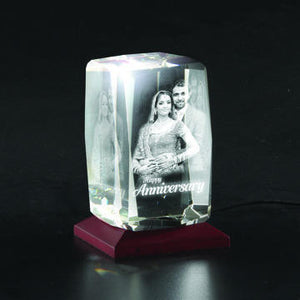 Bevelled 3D Photo Crystal - Deeher Gifts