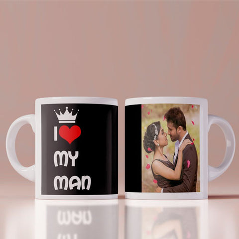 I Love My Man Coffee Mug
