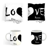 Personalized Cushion and Mug Combo