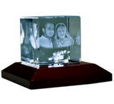 Square Shape 3D Photo Crystal - Deeher Gifts
