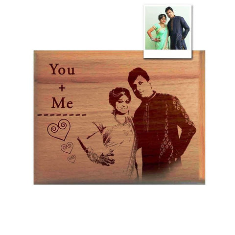 Personalised wooden engraved Photo Frame