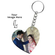 Personalised Heart Shape Photo keyring - Deeher Gifts