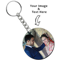 Customised Round Shape Photo keyring - Deeher Gifts