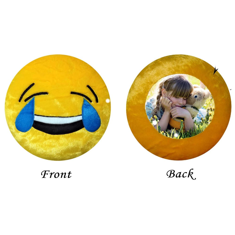 Personalised emoji Photo Cushion With Filler