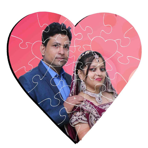 Customized Photo Puzzle In Heart Shape