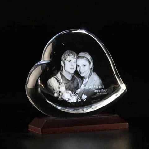 Heart Shape Personalized 3D Crystal