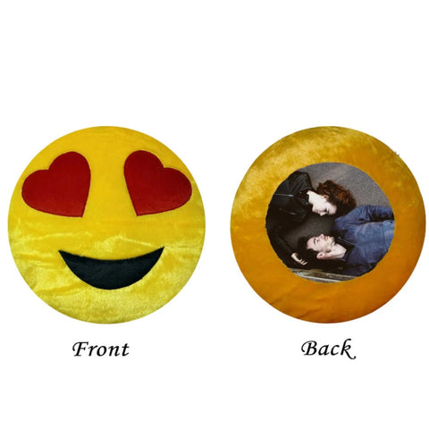 Customised Emoji Photo Cushion With Filler