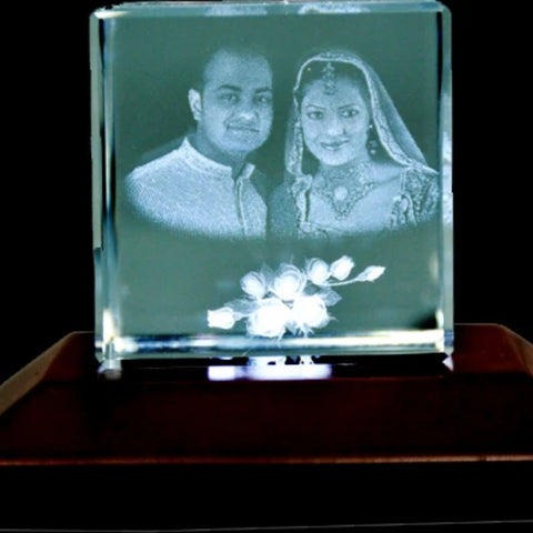 Square Shape 3D Photo Crystal