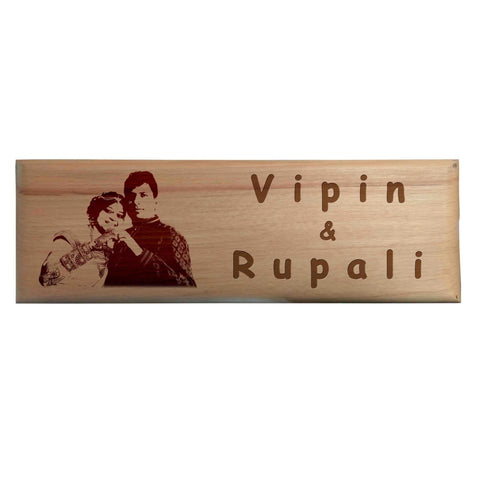 Customised Wooden Engraved Name Plates