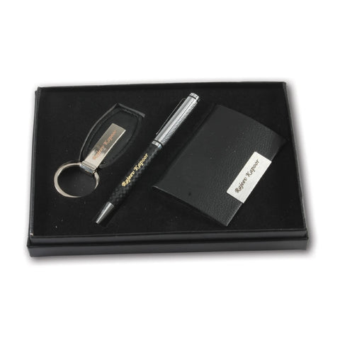 Pen keychain and visiting card set