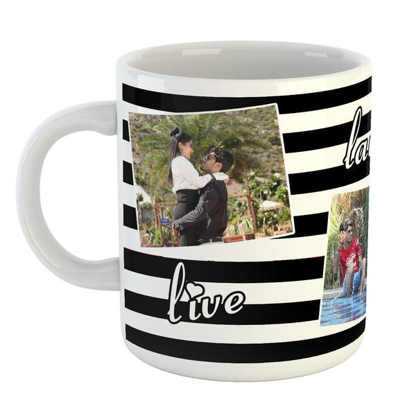 Live Laugh Love Photo Coffee Mug