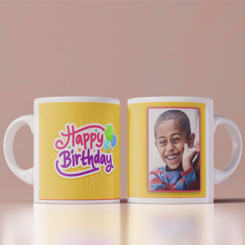 Happy Birthday Photo Mug