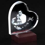 Heart Shaped Photo Crystal - Deeher Gifts