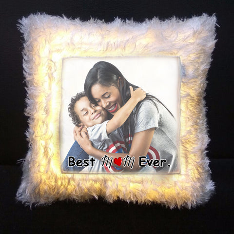 Best Mom Ever Personalized Led Cushion