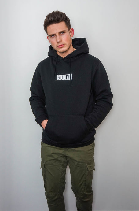 Sulfit Box Logo Pullover Hoodie - Jet Black