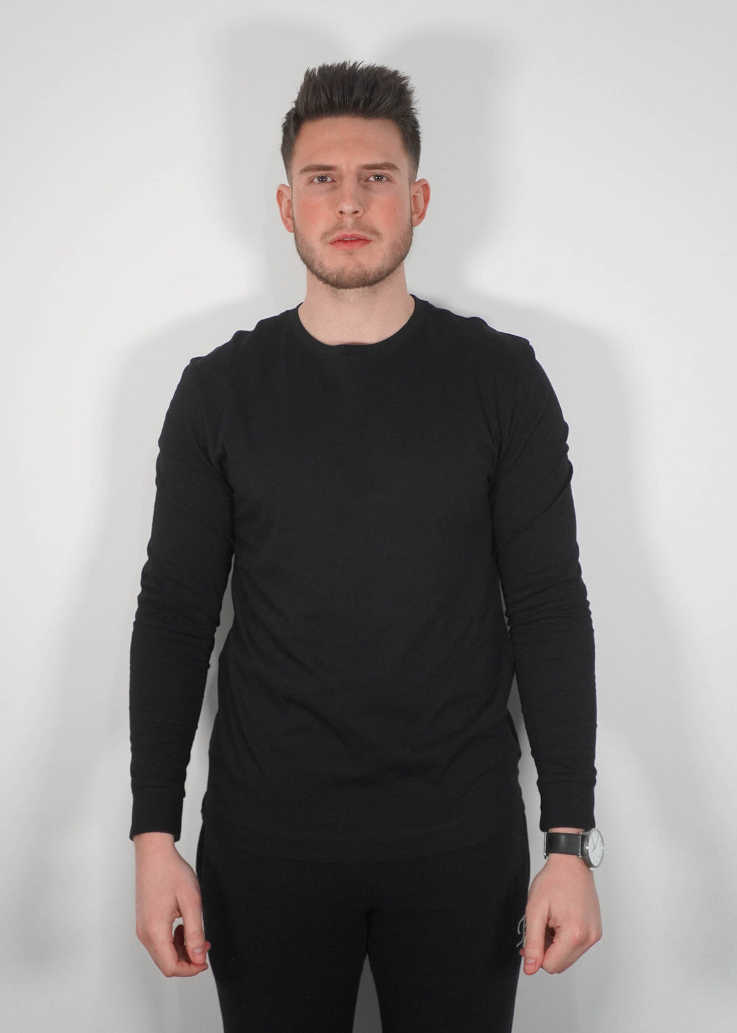 Long Sleeved T-Shirt In Black
