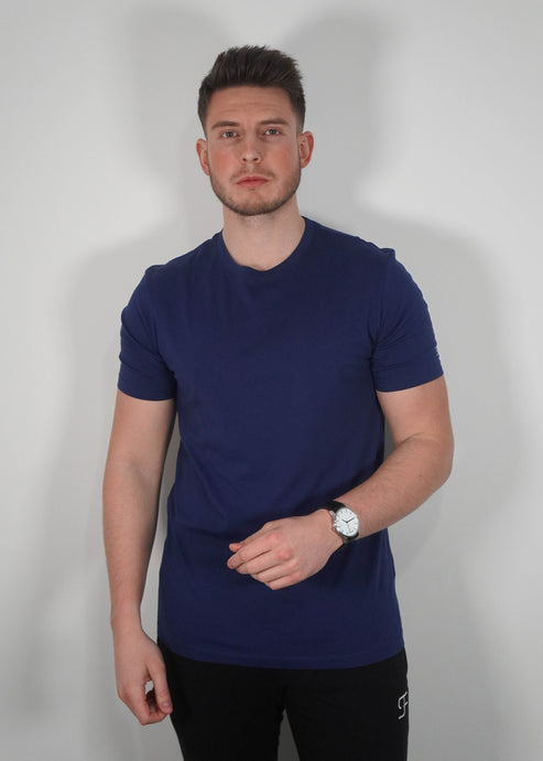 Lightweight T-Shirt In Navy Blue