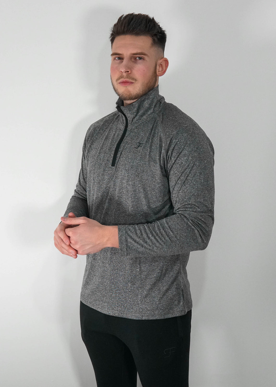 Performance 1/4 Zip - Grey/Black