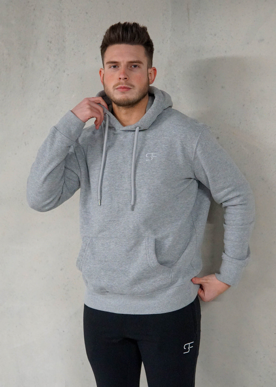Essential Pullover Hoodie - Heather Grey