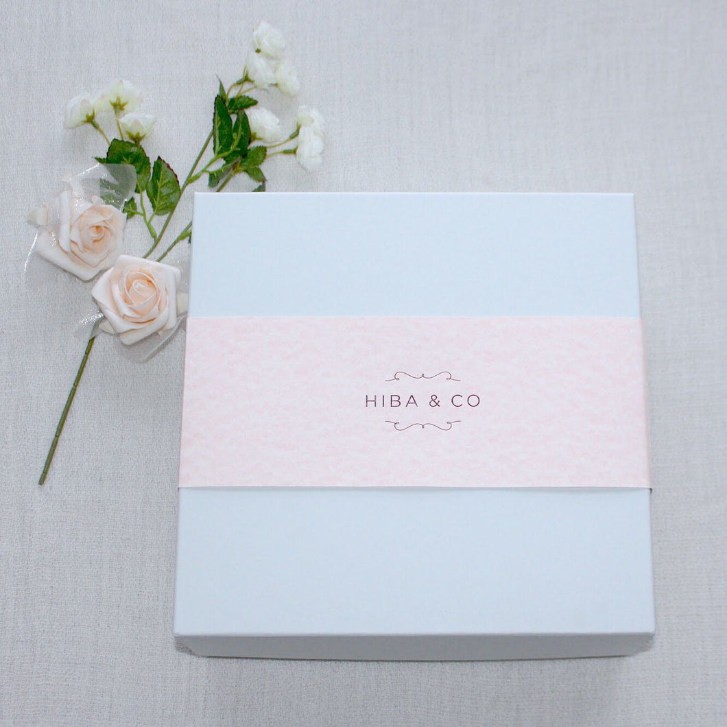 Bespoke Gift Box and Blush Pink Band with Gift Card