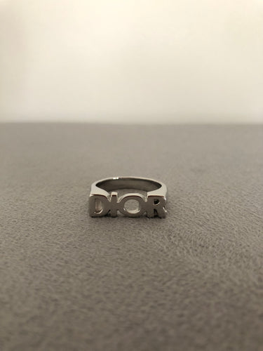 Silver Christian D Ring