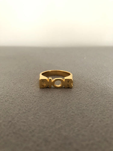 Gold Christian D Ring