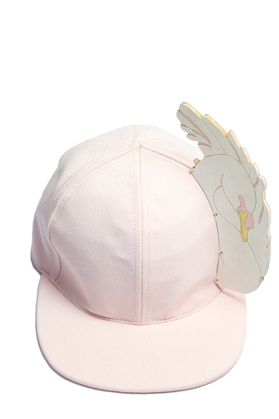 Francesco Ballestrazzi - Pink cap in cotton with plywood silhouette