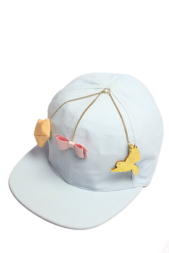 Francesco Ballestrazzi - Light blue baseball cap with charms