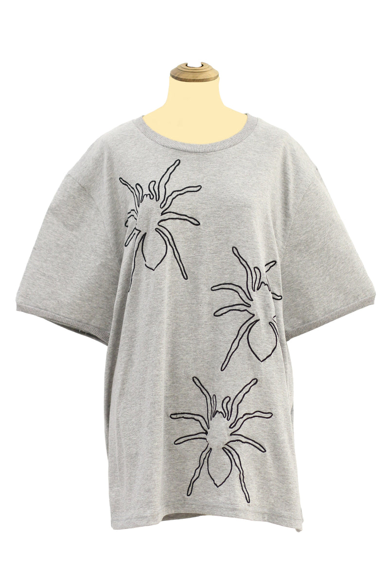 Dry Clean Only - Gray tees with spider design tees