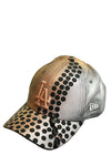 Gold silver polka dots with duck toys cap